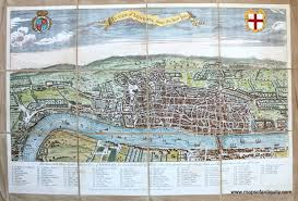 Map Of London England by A View Of London About 1560 Reproduction Antique Maps And
