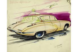 vintage cars drawings sketches that go back to the future of cars wsj