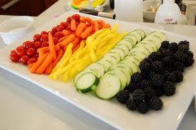 rainbow veggie tray ideas