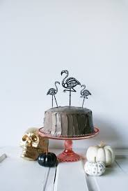 Halloween Cake Stands Diy Skeleton Flamingo Cake Toppers Salty Canary