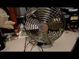 12 volt heavy duty metal fan bergstrom 12v dc 2 speed metal defroster dash aux fans youtube