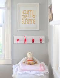 diy neon nursery wall hooks say yes