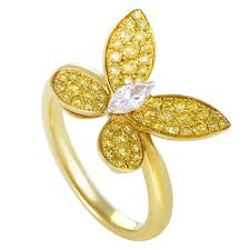 butterfly rings gold images Graff diamonds fancy vivid yellow and white diamonds gold jpg