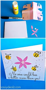 fingerprint bee mother u0027s day card for kids to make mothers day