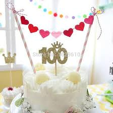 cake banner topper creative cake bunting banner topper 100 heart flag birthday party