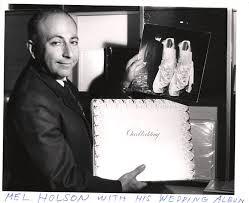 holson photo album mel holson with his wedding album international center of