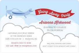 airplane flag going away invitation going away invitations