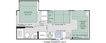 Rv Floor Plans Class A Four Winds Class C Motorhomes Floor Plans Thor Motor Coach