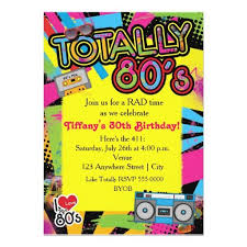 195 best 80s birthday party invitations images on pinterest 80s