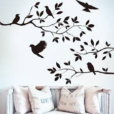 aliexpress com buy 60 35cm black bird tree branch monster wall