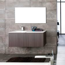 wall hung washbasin cabinet wooden contemporary lacquered