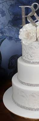 rhinestone cake decorate my wedding swarovski rhinestone cake banding 2 rows