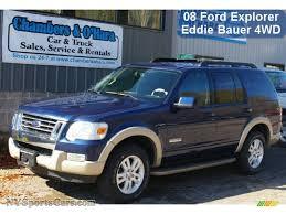 Ford Explorer Blue - 2008 ford explorer eddie bauer 4x4 in dark blue pearl metallic