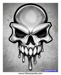 skull 8 ball tattoo 2
