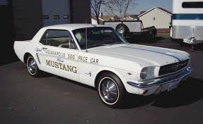pace car white 1964 ford mustang indianapolis pace car hardtop