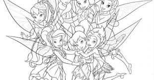 tinkerbell friends coloring pages coloring
