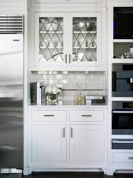 Kitchen Cabinet Doors With Glass Amazing Kitchen Cabinet Door Glass In Clean Shade White Regarding
