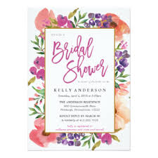 wedding shower invitations floral bridal shower invitations announcements zazzle