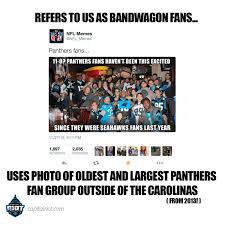 nfl memes used our photo to make fun of bandwagon panthers fans