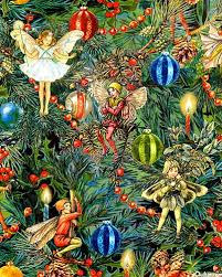 cecely barker flower fairies christmas fabric festivities