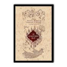 Marauder Map Harry Potter The Marauder U0027s Map Poster Print Art Licensed By