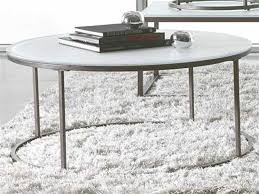 38 round coffee table casana alana frosted glass natural steel 38 round coffee table