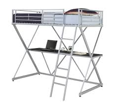 dhp furniture x loft bunk bed silver