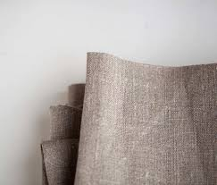 natural linen fabric by the yard natural color eco friendly