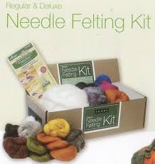 learn how to felt wool with simple felting kits the