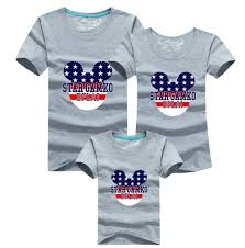 matching family clothes mother father daughter son t shirt 90