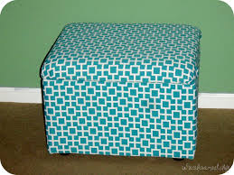 Diy Storage Ottoman Coffee Table by Painting Fabric Ottoman Mrs Bomb Com Home Decor How To Make