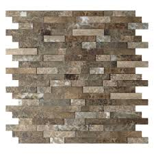 backsplashes countertops backsplashes the home depot stone adhesive wall tile backsplash in brown