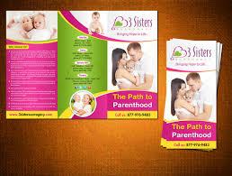 elegant playful flyer design for 3 sisters surrogacy by creative