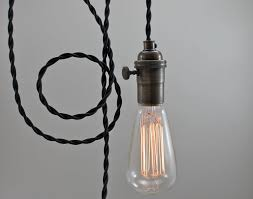 Edison Pendant Light Fixture Black Minimalist Pendant Light Hanging Swag Edison Bare Bulb