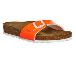 birkenstock madrid 1 bar mule neon orange sandals