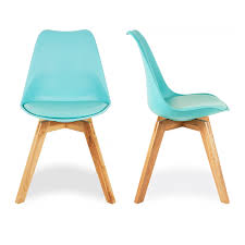 charles eames x2 style turquoise dining chairs with solid oak
