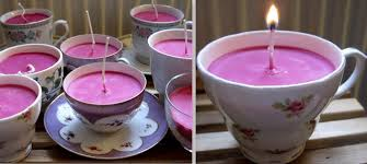 tea cup candle diy tutorial teacup candles boho weddings for the boho luxe