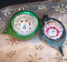 vintage christmas ornaments vintage poland indent glass