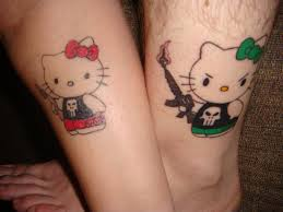 kitty couple tattoos
