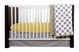bacati dots pin stripes grey yellow 10 pc crib set including