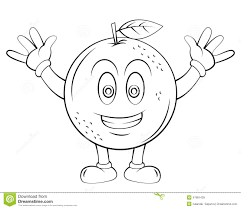 oranges clipart black and white orange fruit cartoon stock vector image 47881439