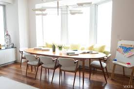 mid century oval dining table beyond neutral color palette living the serene life in nyc oval