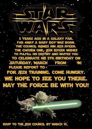 free star wars birthday invitations invitations templates