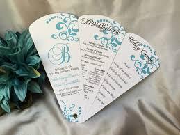fan wedding program swirls petal fan wedding program the wedding sophisticate
