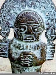 imagenes idolos aztecas curiosa figura de bronce patinado tipo azteca comprar esculturas