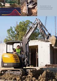 volvo heavy fisa tehnica excavator compact ec35c volvo excavatoare volvo