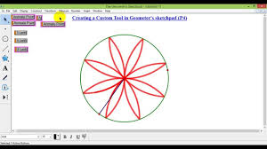 geometer u0027s sketchpad flower youtube