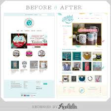 shopify design before u0026 after from theme to custom site aeolidia