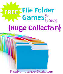 free file folder games for homeschool learning and fun huge