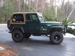 lifted jeep green 1992 jeep wrangler yj sahara
